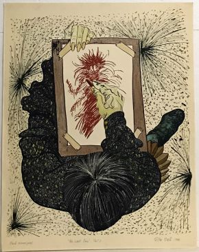 The Last Emu Part I 1986 Hand Colored Print 101 x 80cm NOT FOR SALE