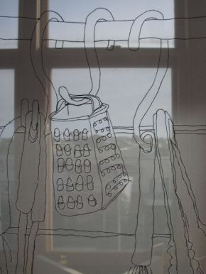 Scarfing In - work in progress 2008 by Annalise Rees
