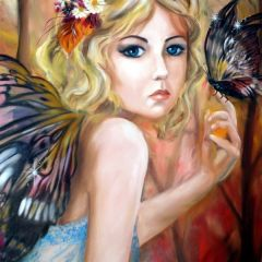 Fairy and Butterfly by Claire Spring