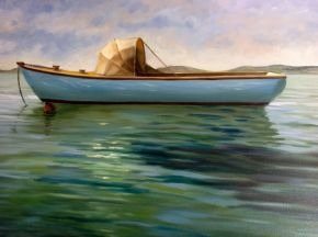 1920 Laycock Trading Boat by Claire Spring