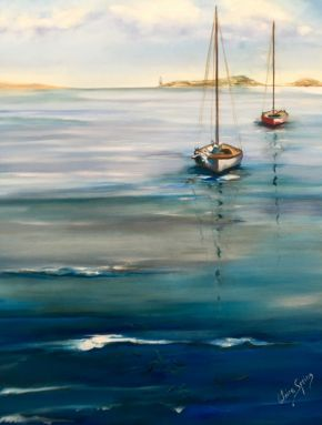 Couta Boats At The Heads by Claire Spring