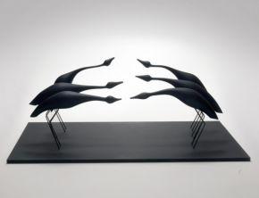 Birds in Flight (Black) 2006 by