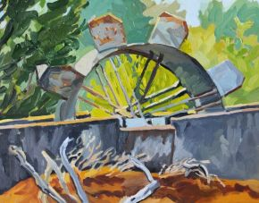 Waterwheel 1 2018 by Elizabeth Nelson