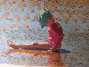 Enjoying the beach by Ingrid Heward