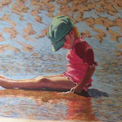 Enjoying the beach by Ingrid Heward