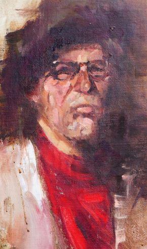 Red Scarf by Melanie Bardolia