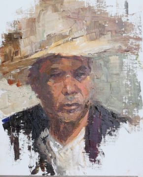 Man in a hat by Melanie Bardolia