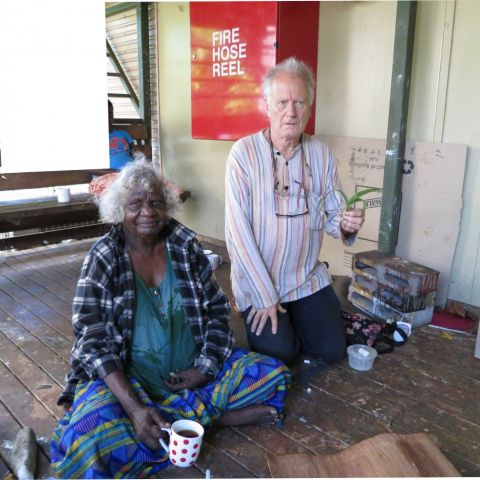 Mulkun Wirrpanda and John Wolseley at Yirrkala by John Wolseley