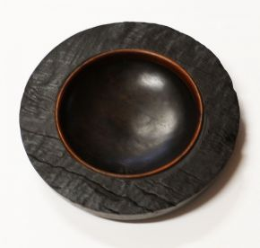 Ancient redgum bowl. The top by Malcolm Bird