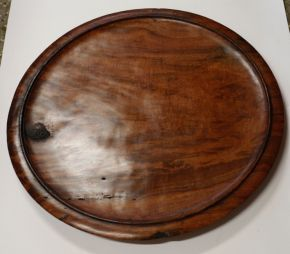 Unusual Redgum platter #10 Top by Malcolm Bird