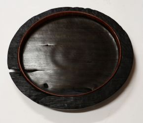 Ancient redgum platter #2 top by Malcolm Bird