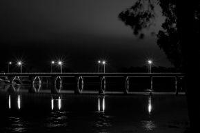 Nathan St Bridge 10pm by Neil Binnie