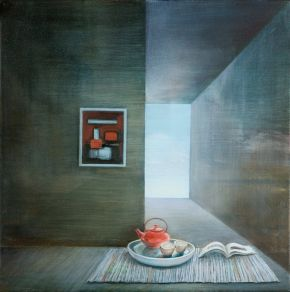 Interior with Teapot and View by Toni Walker
