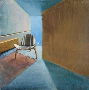 Study - Interior View with Wegner Chair by Toni Walker