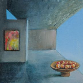 Study - Fruit Bowl & View by Toni Walker