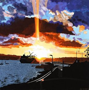 The lights of the harbour by Tony Sowersby
