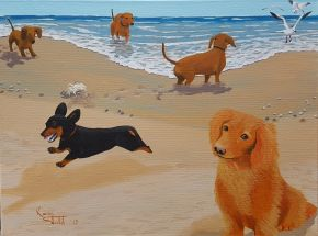 KS566 Dogs Day at the Beech