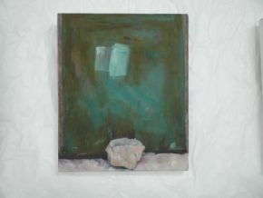 Rock. Oil on canvas
