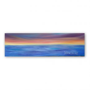 Colourful abstract seascape  oil painting