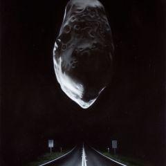 LLOYD_highway_with_asteroid(prometheus)_oilonlinen_40x30cm